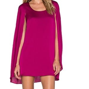 Lovers and Friends Magenta cape Dress